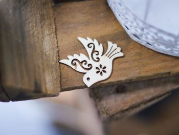 Photo: Voices Blog, dove ornament laying on a table