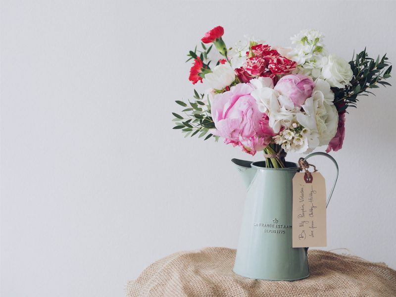 Photo: Voices blog, vase of flowers