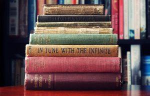 Photo: bookshelf old books
