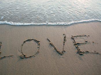 love beach word
