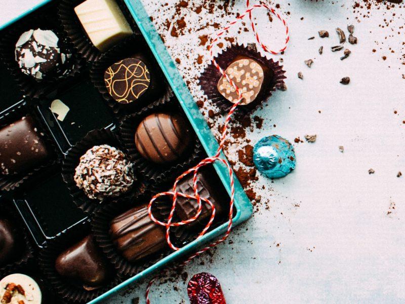 gift box of gourmet chocolates