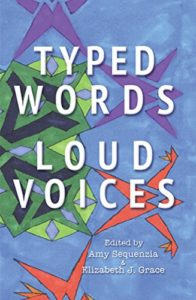 book cover for Typed Words Loud Voices